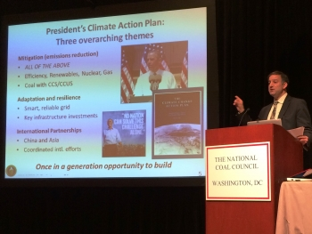 Friedmann Talks Climate, CCS at National Coal Council Meeting