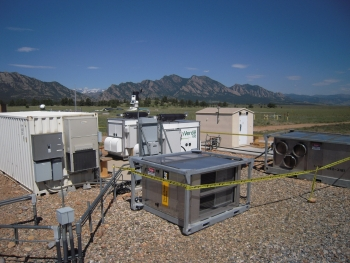 Microgrid equipment at the National Wind Technology Center in Colorado. | Photo courtesy of the National Renewable Energy Lab.
