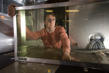 Researchers at the Energy Department's National Renewable Energy Laboratory are developing innovative new window technology that helps improve occupants' comfort and cuts energy use. | Photo courtesy of Pat Corkery, NREL.