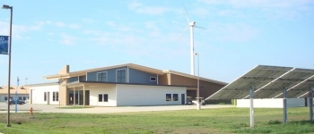 The 15,000 square-foot sustainably designed National Sequestration Education Center, located at Richland Community College in Illinois, offers the nation's first associate degree programs in carbon capture, utilization and storage.  The Center also provides community and regional outreach on CCS through its state-of-the-art interactive visitor's center. The NSEC is part of a larger Department of Energy-sponsored Industrial Carbon Capture and Storage project. Photo courtesy of Richland Community College.