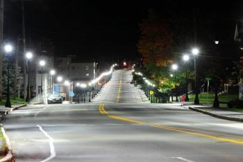 Fort Fairfield's new energy efficient streetlights.   Photo courtesy of Paul Cyr