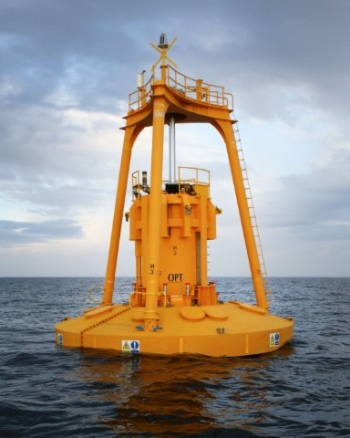 Ocean Power Technologies wave energy device. | Photo courtesy of Ocean Power Technologies.