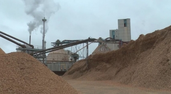 Old Town Fuel and Fiber, a former pulp mill, converts a portion of the wood chips used to make pulp to biofuels.   Energy Department photo.
