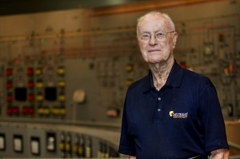 Eugene Waggoner poses for a portrait in the C-300 Central Control Building at the Paducah Gaseous Diffusion Plant.  (Story and photo by Dylan Nichols, Fluor Paducah Deactivation Project.)