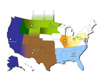 DOE has created a network of seven Regional Carbon Sequestration Partnerships (RCSPs) to help develop the technology, infrastructure, and regulations to implement large-scale CO2 storage (also called carbon sequestration) in different regions and geologic formations within the Nation.
