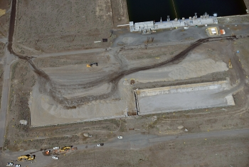 An aerial view of the site of the former 183-B Clearwell.