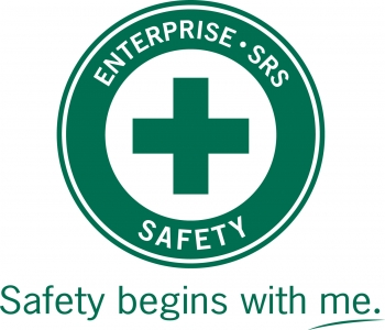"A green cross was chosen as the primary symbol for the Savannah River Site's ""Safety Begins with Me"" program."