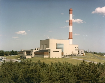 Pictured here is the Brookhaven Graphite Research Reactor, where major decommissioning milestones were recently reached after the remaining radioactive materials from the facility's bioshield were shipped to a licensed offsite disposal facility.