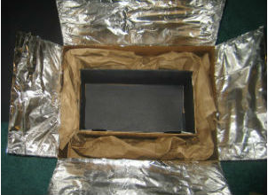 Our homemade solar oven.   Courtesy of Moon Choe