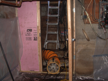 Eldred French had the basement in his home (pictured above) insulated and sealed by local contractors. | Photo Courtesy of NWWVT