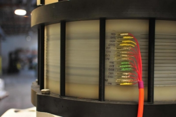 Primus Power's energy cell stack.   Photo Courtesy of Primus Power