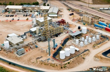 An aerial view of Rentech's Product Demonstration Unit (PDU) in Commerce City, Colorado. | Photo courtesy of Rentech.