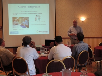 Quality Insulation Installers, Milwaukee, WI, Industry Leadership and High Energy Savings. |Keith Williams of Quality Insulation Installers conducts a contractor training.