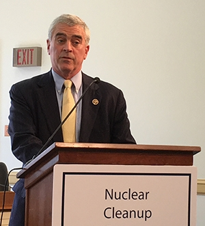 Rep. Brad Wenstrup talked about the importance of cleanup to the people of Pike County, Ohio, the home of EM's Portsmouth Site.