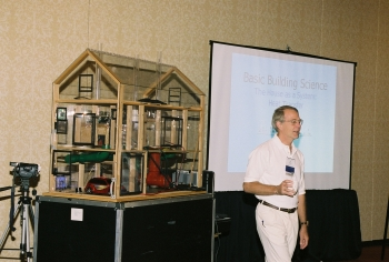 Weatherization workers are trained in the house as a system approach. The Energy Department's Weatherization Assistance Program funded technical assistance as part of Connecticut's Health Impact Assessment project. | Photo courtesy of Weatherization Assistance Program Technical Assistance Center