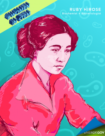 """Dr. Ruby Hirose was a Japanese-American researcher whose research helped lead to vaccines against polio and other diseases. Graphic by <a href=""""/node/2349957"""">Cort Kreer</a>."""