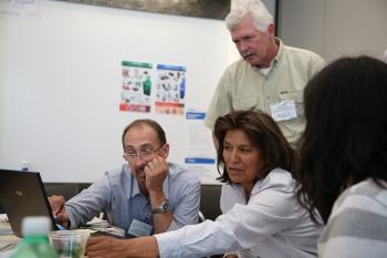 Participants got a first-hand experience using the System Advisor Model. Photo by John De La Rosa, NREL