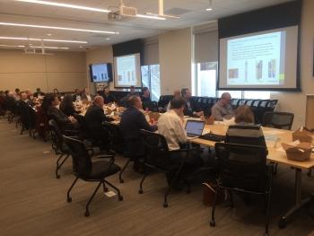 SMR Presentation -- LINKS attendees observing presentation on DOE Nuclear Energy Technologies (credit DOE)