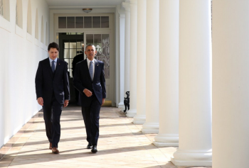 President Obama and Canadian Prime Minister Justin Trudeau at the White House in Washington.   Photo courtesy of the Government of Canada.