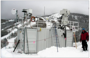 An ARM mobile research facility deployed in Steamboat Springs, CO, to begin replacing measurement methods that formerly took years and had to be done using costly aircraft operations. | Energy Department Photo | Courtesy of Atmospheric Radiation Measurement (ARM) Climate and Research Facility |