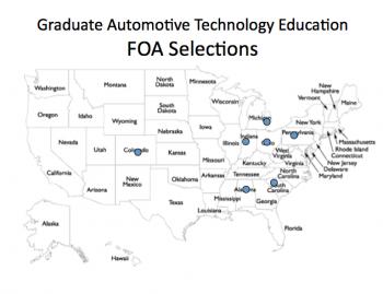 Graduate Automotive Technology Education (GATE) Initiative Awards