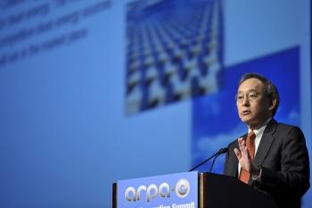 Secretary of Energy Steven Chu speaking at the 2011 ARPA-E Energy Innovation Summit. | Energy Department file photo.