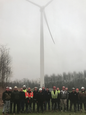 The 1.7-megawatt wind turbine is expected to save the Seneca Nation an estimated $360,000 annually, reducing monthly electricity bills for some 1,000 Seneca households.