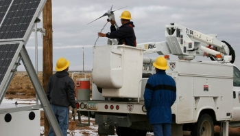NTUA has the largest residential solar fleet in Indian Country. Photo from NTUA