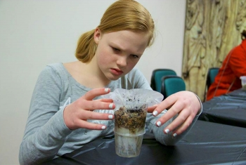 Designing water filtration systems was an activity that attracted eastern Idaho students to the Museum of Idaho – Fluor Idaho's Engineering Day.