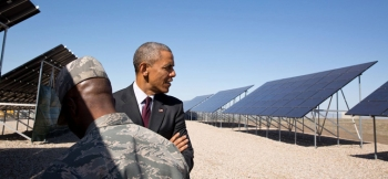 Last Friday at Hill Air Force Base in Utah, President Obama announced the expansion of the Solar Ready Vets program, a joint effort between the Department of Energy and Department of Defense to train active military personnel for careers in the solar energy industry.   White House photo.