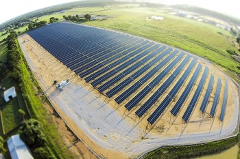 The CoServ Solar Station in Krugerville, Texas. Photo: KEN OLTMANN/CoServ