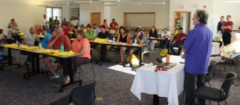 Solarize Akwesasne community event night held at the AHA Training Center in June 2015. Photo from St. Regis Mohawk Tribe