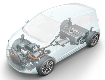 Thanks to a cost-sharing project with the Energy Department, General Motors has been able to develop the capacity to build electric and hybrid motors internally. That capacity has made cars like the upcoming Chevy Spark EV (above) possible. | Image courtesy of General Motors.