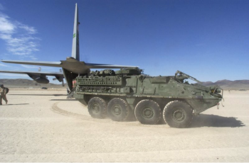 As part of the 21st Century Truck Partnership, the Army will demonstrate technology that converts waste heat from an exhaust system to electricity used in its Stryker vehicle.   Photo courtesy of U.S. Army