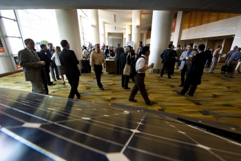 Join the Energy Department's SunShot Initiative for a discussion on all things solar. | Photo by Dennis Schroeder, National Renewable Energy Laboratory.