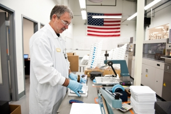 Quality assurance testing at Suniva. Photo courtesy of Suniva.