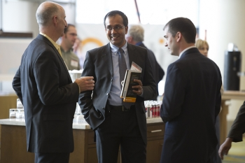 Attendees gather to discuss, collaborate at the SunShot Grand Challenge Summit in Denver, Colorado. | Photo by Dennis Schroeder/NREL.