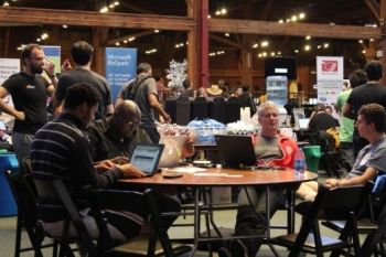 Developers at Tech Crunch Disrupt SF 2012.