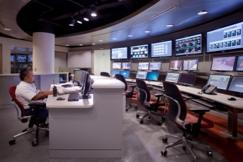 Thermal Energy Corporation's (TECO) Control Room   Photo Courtesy of the Texas Medical Center