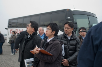 Tokyo Electric Power Company officials tour the Hanford Site to learn about cleanup technologies that could be used at Fukushima.