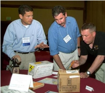 Students learn to identify labels and use instruments during a Transportation Emergency Preparedness Program class