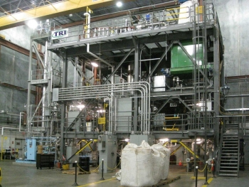 ThermoChem Recovery International's process demonstration unit -- where wood waste and forest residue is converted into renewable fuel. | Courtesy of TRI.