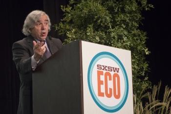 Energy Secretary Ernest Moniz delivers a keynote address at SXSW Eco in Austin, Texas, on October 8, 2014. | Photo by David Fox, SXSW.