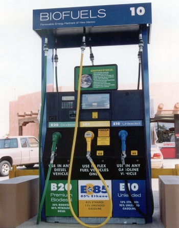 """Pumps marked """"E85,"""" usually in yellow are gasoline that is up to 85% ethanol, sold across the United States. 
