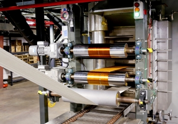 The Carbon Fiber Technology Facility at Oak Ridge National Laboratory has developed new technology for manufacturing low-cost, high-volume carbon fiber for transportation, energy, and infrastructure industries.  (Photo courtesy of Oak Ridge National Laboratory)