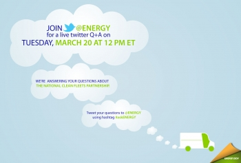 Visit twitter.com/energy to join our live Twitter Q&A on Tuesday, March 20, at noon ET.