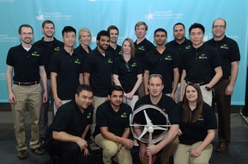 The University of Massachusetts Lowell -- which developed a transportable wind turbine that charges portable electronic devices -- placed third at the Collegiate Wind Competition.