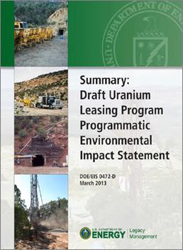 DOE Extends Public Comment Period for the Draft Uranium Leasing Program Programmatic Environmental Impact Statement