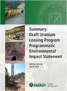 Public Comment Period Re-Opened for the Uranium Leasing Program PEIS