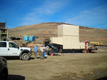 Set up at the Neal Hot Springs project | Photo Courtesy of the Department of Energy Loans Program Office
